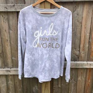 SO tie dye graphic sweatshirt. Size L
